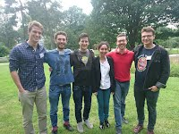Getting to know you - Riccardo, Alejandro, Luca, Najwa, Alessandro and Matt meet up at the Copenhagen Summer School - July 2016
